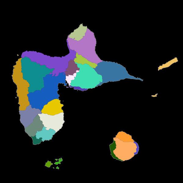 Unités paysagères définis par l'atlas des paysages del 'archipel Guadeloupe