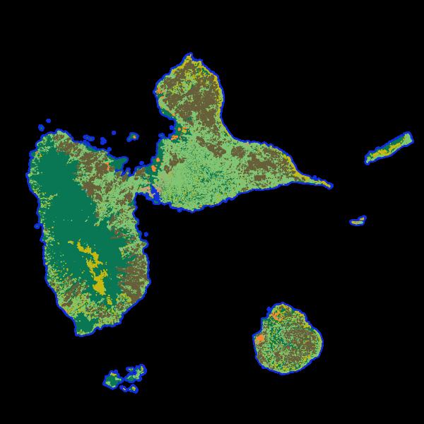 KaruCover 2017 - Occupation du sol à grande échelle en 2 dimensions en Guadeloupe