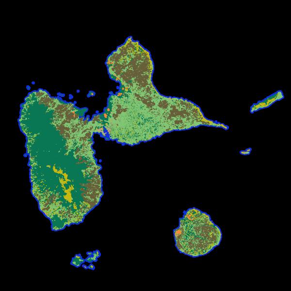 KaruCover 2010 - Occupation du sol à grande échelle en 2 dimensions en Guadeloupe