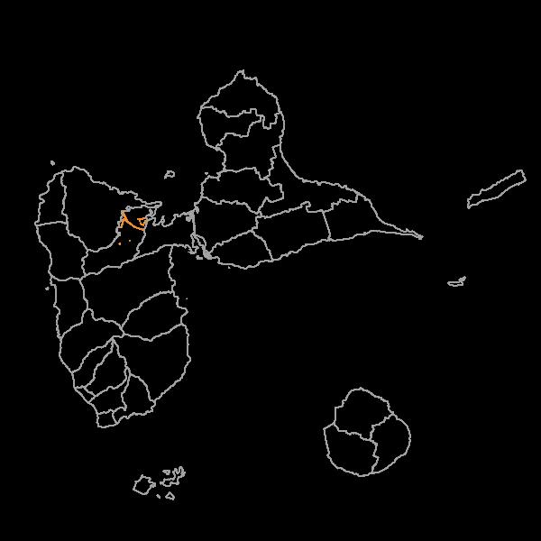 Plan Local d'Urbanisme de LAMENTIN - Prescriptions surfaciques