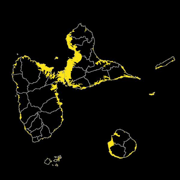 Zones à évacuer en cas d'alerte tsunami