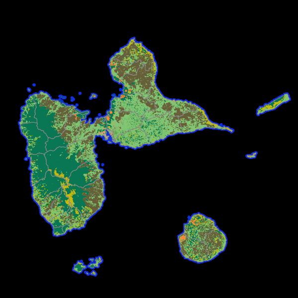 KaruCover: le référentiel d'occupation des sols à grande échelle en 2D