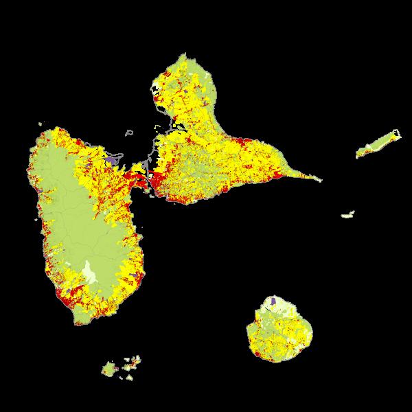 Occupation thématique à partir du croisement BD Parcellaire 2012 et subdivision fiscale (surface)