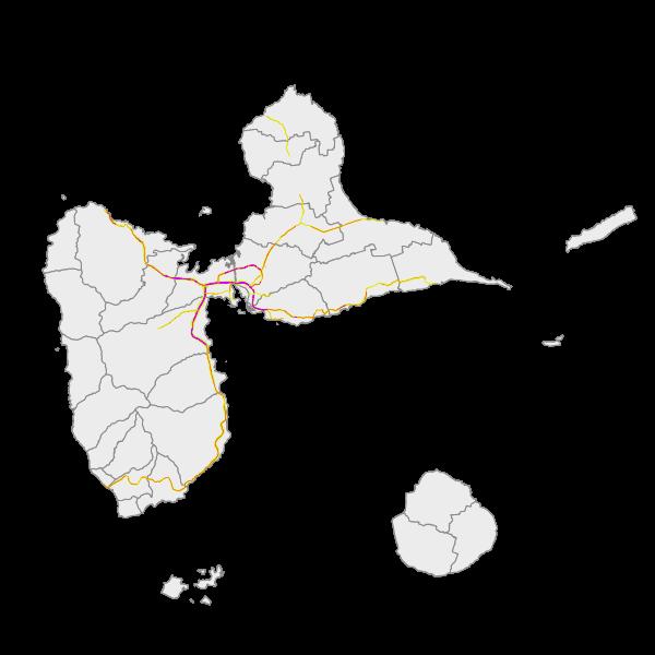 Les zones exposées au bruits (carte de type A - Ln)