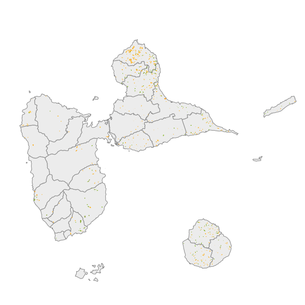 Evolution des formations végétales de 1950 à 2010