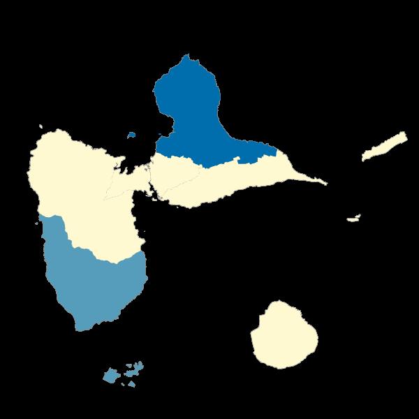 Répartition des émissions de N2O dans les EPCI de la Guadeloupe en 2013