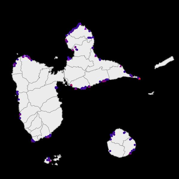 Équipements touristiques directement liés au sentier du littoral Guadeloupe