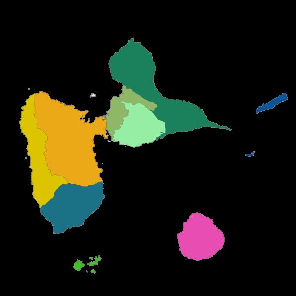 Grands ensembles paysagers définis par l'atlas des paysages de l'archipel Guadeloupe