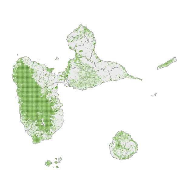 BDTOPO® 2019 - Zone de végétation