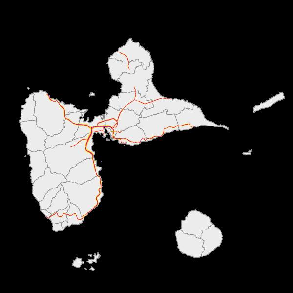 Les zones exposées aux bruits (carte de type A - Lden)
