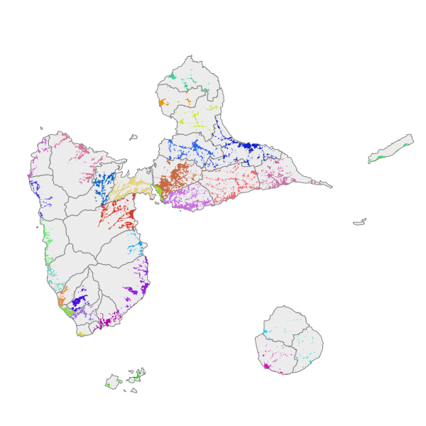 Tâche urbaine millésime 2017 - Guadeloupe