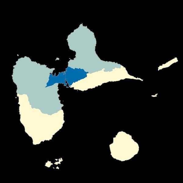 Répartition des émissions de PM10 dans les EPCI de la Guadeloupe en 2013