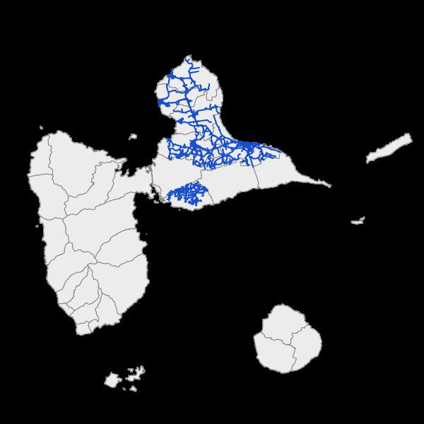 Réseau d'alimentation en eau potable (AEP) sur le territoire RéNoC - Nord Grande Terre et Gosier Grands Fonds