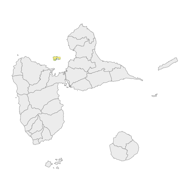 Classification semi-automatisée de la couverture du sol sous-marin autour de l'îlet Fajou en février 2018