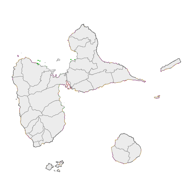 Nature du trait de côte Guadeloupe